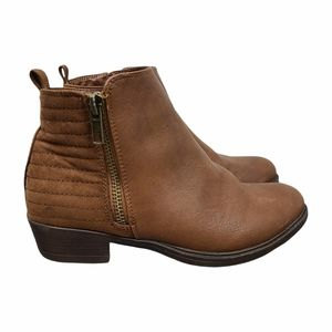 Joe Fresh Brown Faux Leather Ankle Boots Size 1